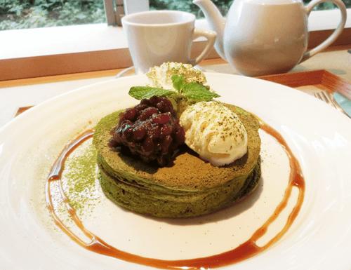 木と水と土と・抹茶パンケーキ